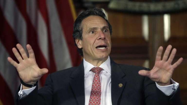 Gov. Andrew M. Cuomo speaks Wednesday during a