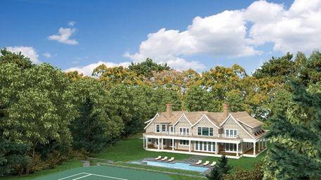 This is an illustration of the Bridgehampton house
