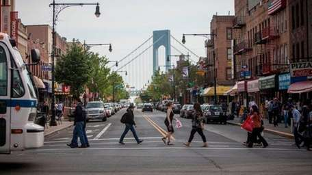 A view of the Verrazano Bridge from 5th