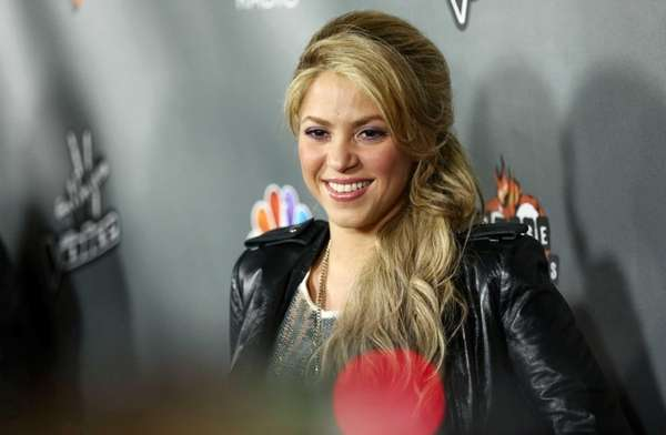 Shakira arrives at an event for quot;The Voicequot;