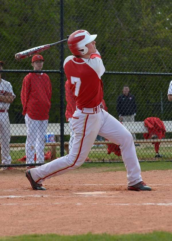 Hills West's David Golinowski (7) hits a two-run