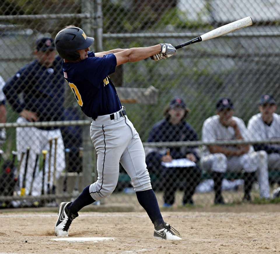 Massapequa's Eric Hassell hits a solo home run