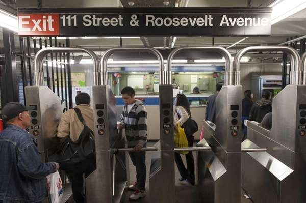 An MTA worker accused of staging a robbery