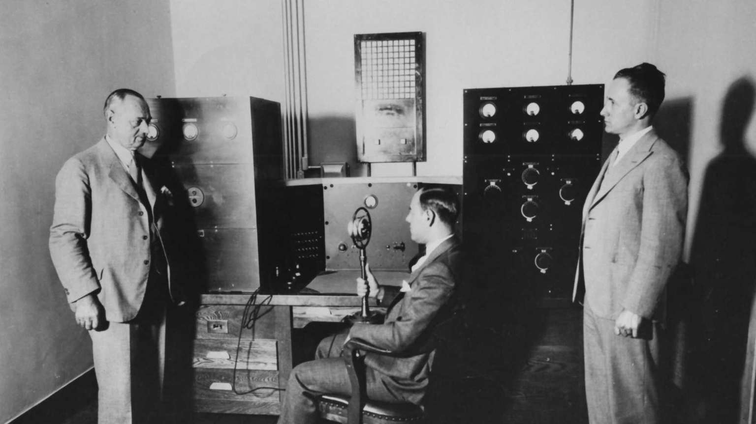The original communications room of the Nassau County