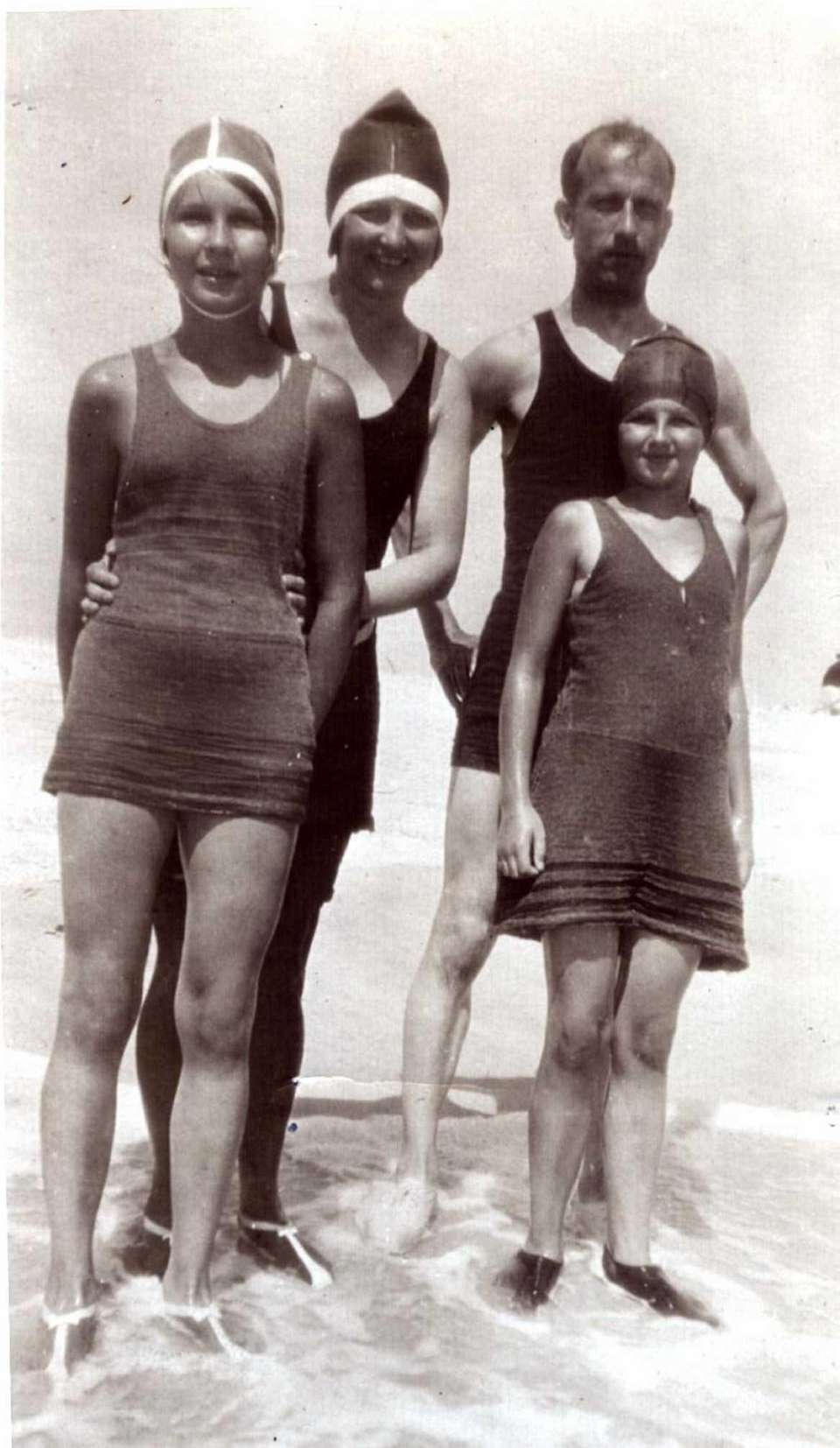 Swimmers at High Hill Beach in the 1920s.
