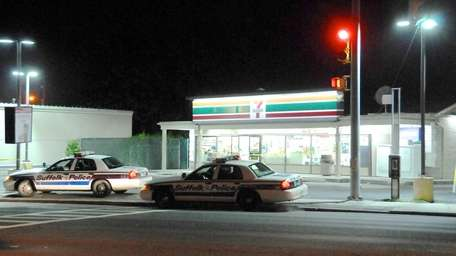 Suffolk County police are seeking two suspects in