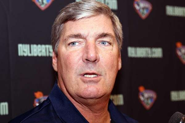 Liberty head coach/GM Bill Laimbeer during looks on