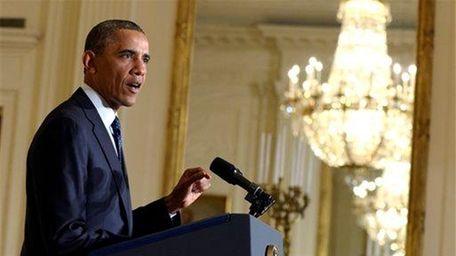 President Barack Obama speaks on the Internal Revenue