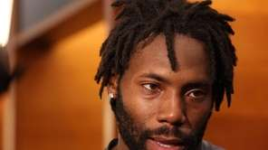 Jets cornerback Antonio Cromartie speaks to the media