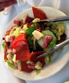 Stella's house salad at Stango's is a lively
