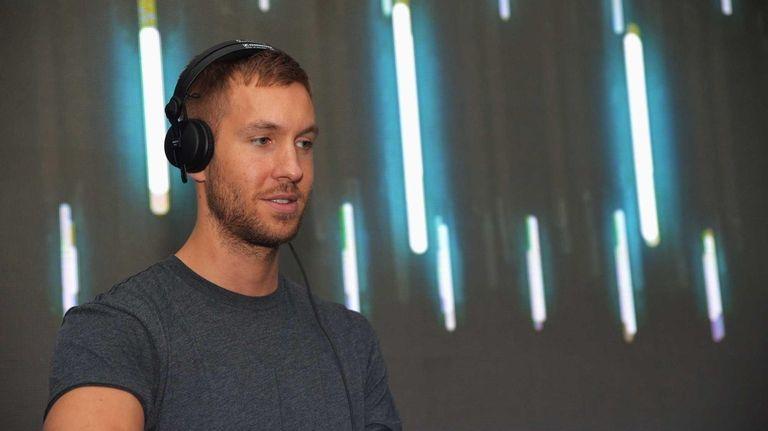 DJ/producer Calvin Harris spins at DIRECTV's 2013 National