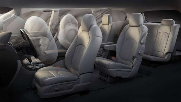 The 2013 Buick Enclave's new center airbag is