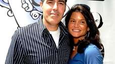 Comedian Adam Carolla and Lynette Carolla, 2008 (Getty)