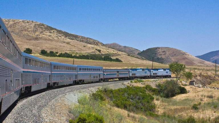 The Coast Starlight at Atascadero, Calif.