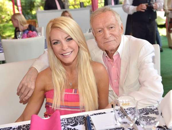 Crystal Harris and Hugh Hefner attend Playboy's 2013