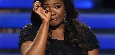 Season 12 winner Candice Glover reacts at the