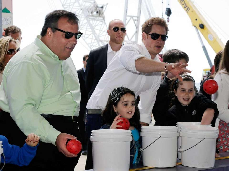 Prince Harry and New Jersey Gov. Chris Christie