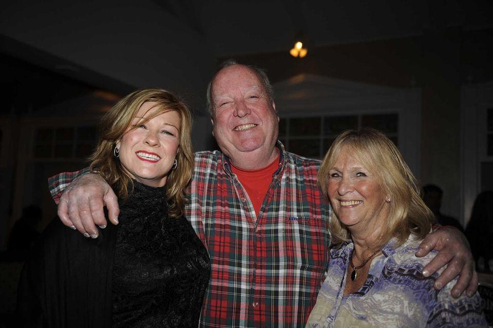 Clair Clark, left, Chris Waters and Charleen Barretta