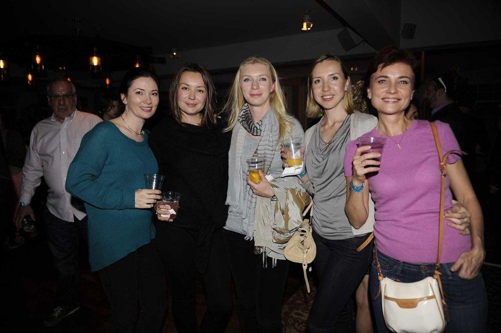 From left, Lena Yaremenko, Angelina Alekseeva, Anastaia Butikis,