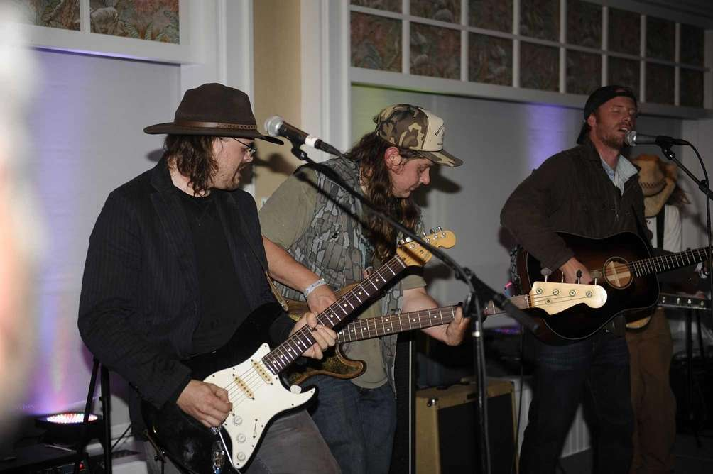 The Mallett Brothers band plays at the Montauk