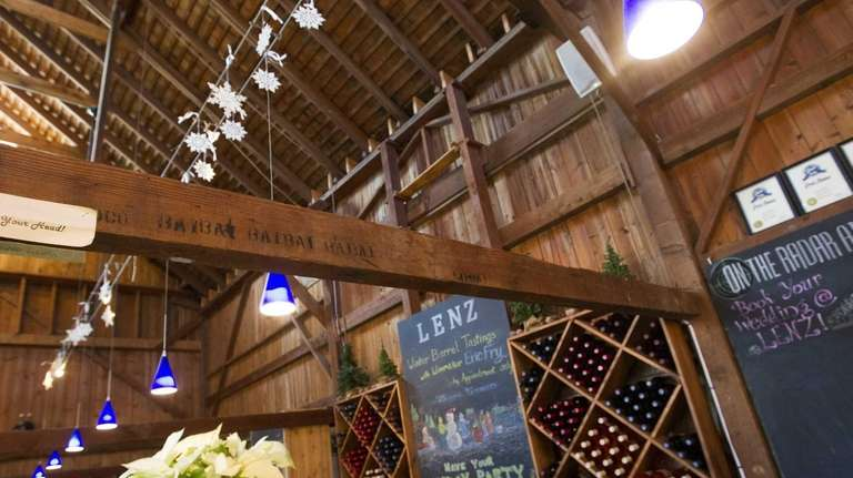 The tasting room at Lenz Winery. . (Jan.