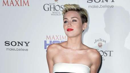 Miley Cyrus, who placed No. 1 on the
