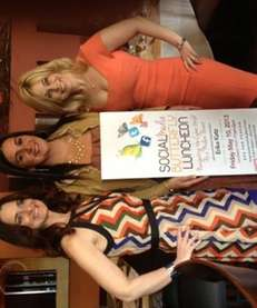 Jen Boudin, left, Toni Contino and Erika Katz