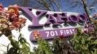 In this photo, the company logo is displayed at Yahoo headquarters in Sunnyvale, Calif. (Jan. 4, 2012)