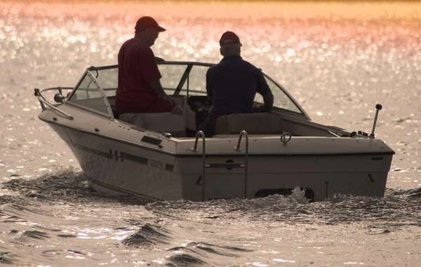 Boaters enjoy a day out on the water.