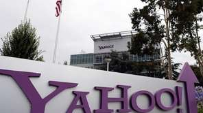 The Yahoo logo is displayed in front of