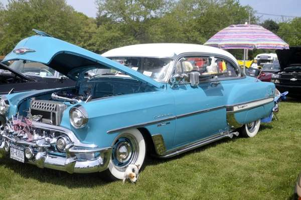 A 1953 Chevy Bel Air is displayed at