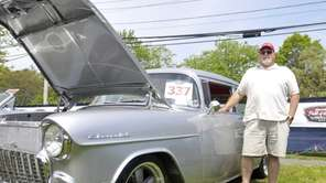 Vinny Luciano of Shirley displays his 1955 Chevy