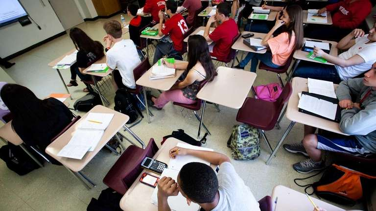Students in a ninth-grade algebra class on May