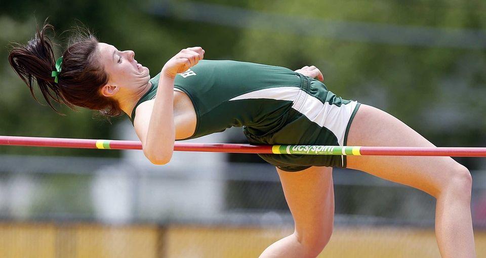 Holy Trinity's Alexis Harris wins the high jump