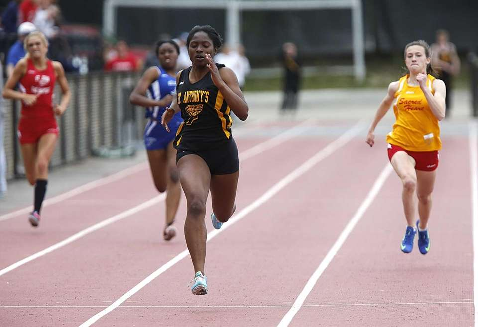 St. Anthony's Melissa June wins the girls 200m