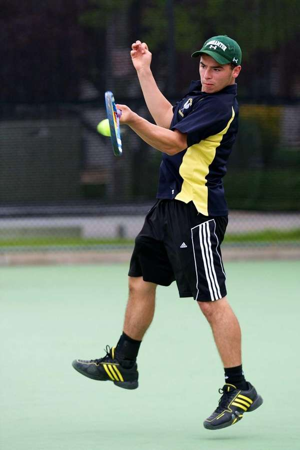 Wantagh's Doug Notaris hits a forehand in the