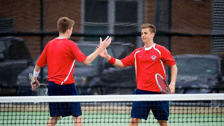 Cold Spring Harbor juniors Conor Mullins and J.P.