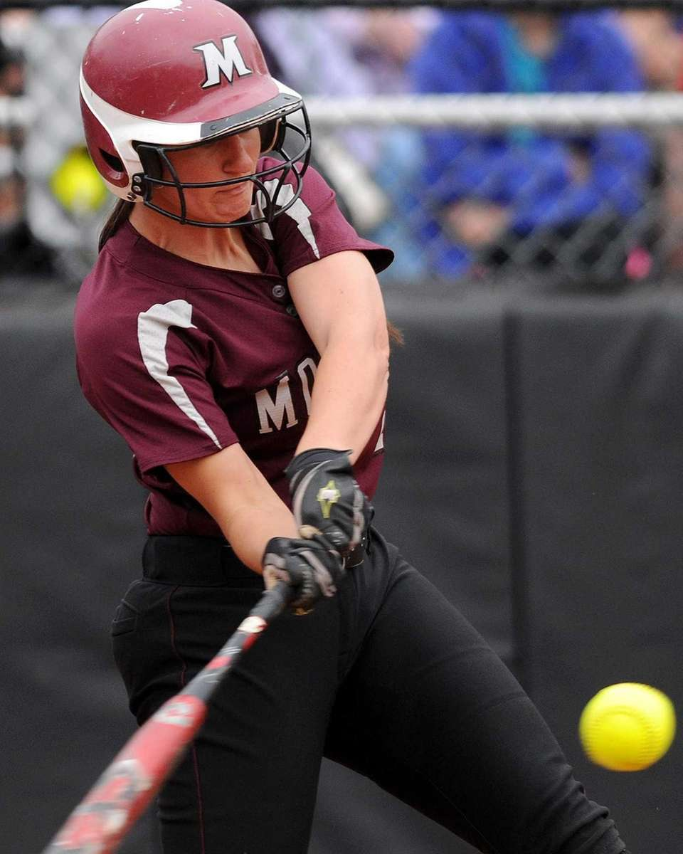 Molloy College's Dayna White connects for a grand