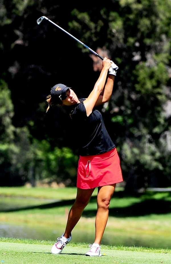 USC golfer Annie Park plays during the 2013