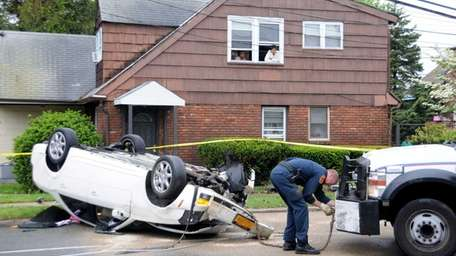 Four people were injured in a single car