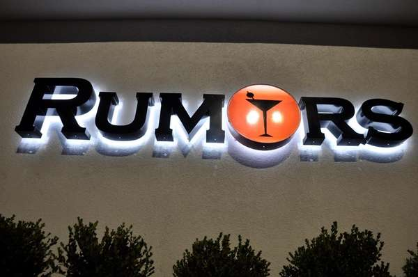 An image of the exterior of Rumors night