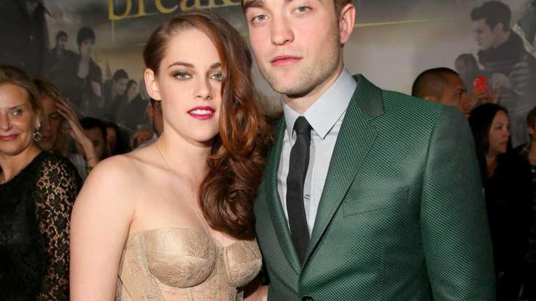 Actors Kristen Stewart, left, and Robert Pattinson, right,