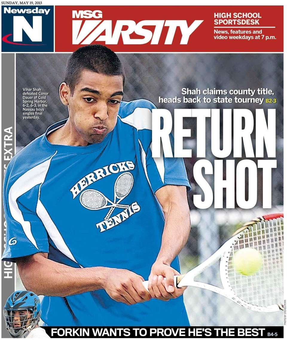 Herricks' Vihar Shah won the Nassau boys singles