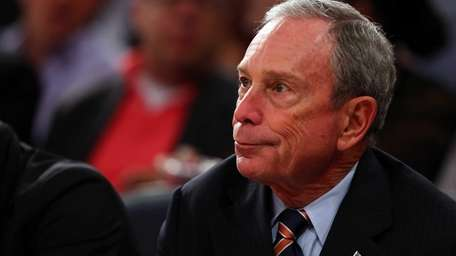 New York City mayor Michael Bloomberg attends Game