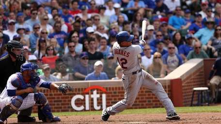 Juan Lagares hits a two-run home run in