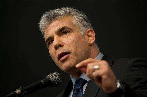 Israeli Yair Lapid, a popular former TV anchorman,