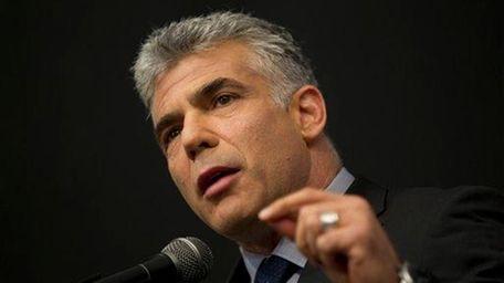 Israeli Yair Lapid, a popular former TV anchorman,