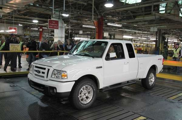 The last Ford Ranger pickup truck built in