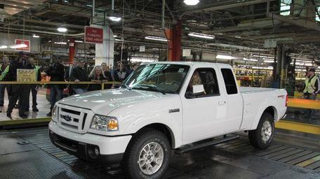The last Ford Ranger pickup truck built in