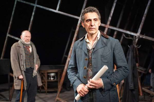 Julian Gamble, right, and John Turturro in Ibsen's